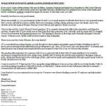 Cystic Fibrosis Walk Letter