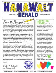 Hanawalt Newsletter September 2015 Mini