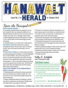 Hanawalt Newsletter Mini