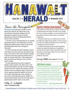 November 2015 Hanawalt Newsletter - Mini