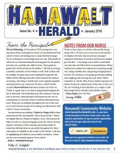 January 2016 Hanawalt Newsletter Mini