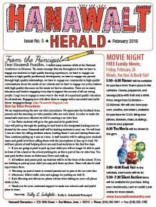 February 2016 Hanawalt Newsletter Mini