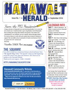 Hanawalt Newsletter September Mini