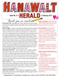February 2017 Hanawalt Newsletter mini
